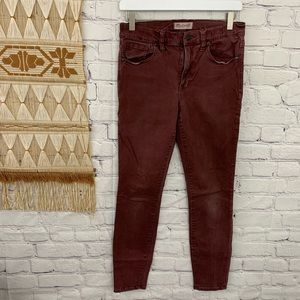 Madewell high riser rusty red jeans